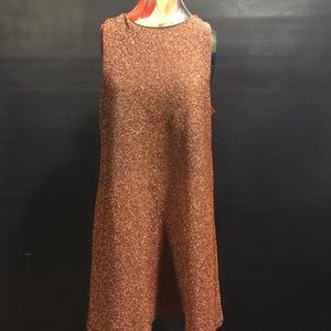 ASOS sparkly copper colored dress